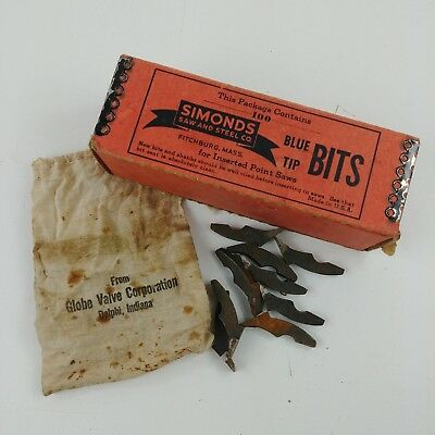 ee 47 PCS Simonds Blue Tip Saw Bit Teeth Style 4 Gauge 7 Kerf 11/32 Bits NOS+