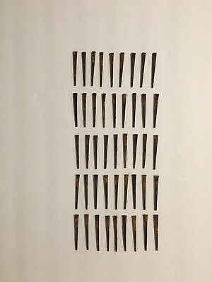 """Lot of 50 Antique Square Head Nails • Approximately 2.25"""" • Rusty • Rustic •Nice"""