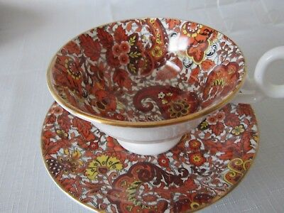 radfords cup and saucser  chintz orange and brown excellent condition