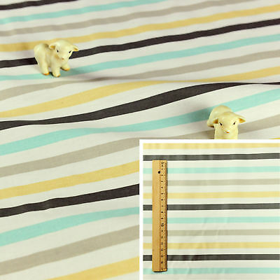 MONOCHROME BLACK WHITE Meter//Fat Quarter//FQ 100/% Cotton Fabric Sew 4mm STRIPES