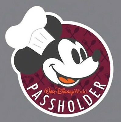 NEW Disney World Chef Mickey Passholder 2018 Epcot Food And Wine Festival Magnet