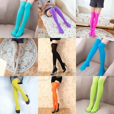 Womans Knit Extra Long Boot Socks Over The Knee Thigh High School Girl Stockings