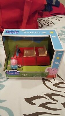 Peppa Pig's Mini Red Car Toy nib jazwares