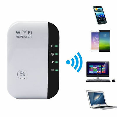 300Mbps WiFi Repeater US Plug Wireless Router Range Extender Signal Booster NEW