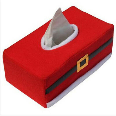 Christmas Rectangle Applique Tissue Box Cover Paper Holder Home Table Decoration