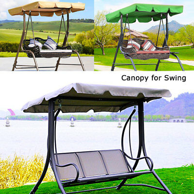 Garden Patio Swing Chair Seat Hammock Bench Canopy Shade 2 & 3 Seater Sizes AU