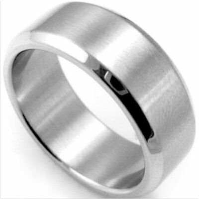 Stackable Yellow Gold Tone Stainless Steel Plain Comfort Fit Wedding Band Ring