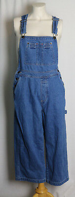 Vintage 90s women's Overalls cropped wide leg loose fit Jeans soft cotton size M