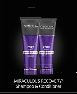 John Frieda FRIZZ ease Miraculous Recovery Shampoo AND Conditioner 250ml each