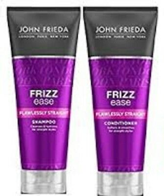 John Frieda FRIZZ ease Flawlessly Straight Shampoo AND Conditioner 250ml EACH