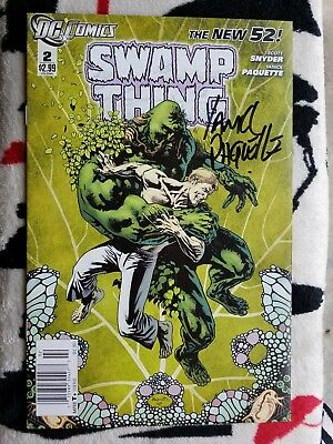 Swamp Thing #2 NM/9.4 2011 DC New 52 Signed Yanick Paquette