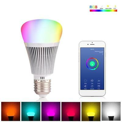 Smart Home Wifi 2.4GHz Light Bulb Wireless Dimmable RGB LED Lamp 6W E27 Aus