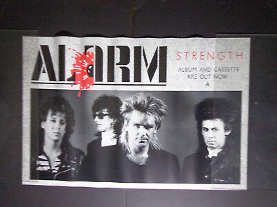 """X THE ALARM -Poster PROMOTIONAL approx-24 x 36"""""""