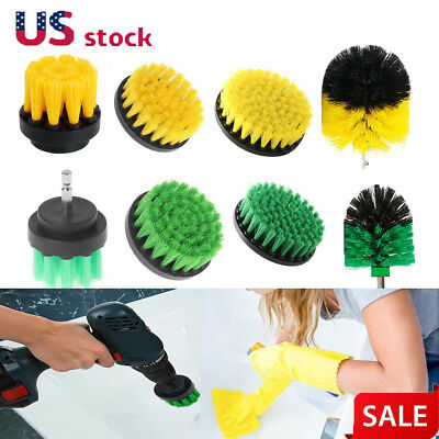 Drill Cleaning Brush Heavy Duty Cleaner Scrubber with Stiff Bristles for Tile US
