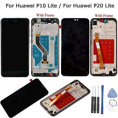 For Huawei P20 Lite / P10 Lite LCD Display Touch Screen Digitizer Frame Assembly