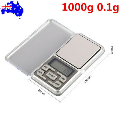 1000g 0.1g Digital Pocket Scale Jewellery Weight Balance LCD Screen Portable AU