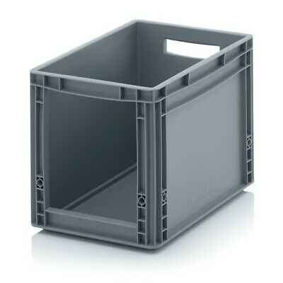 Storage Containers 40x30x32 with Window Stacking Box Eurobox Stackable