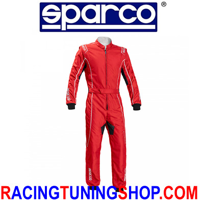 Tuta Kart Sparco Groove Omologata  2022 Tg S - Karting Suit Groove Red/white