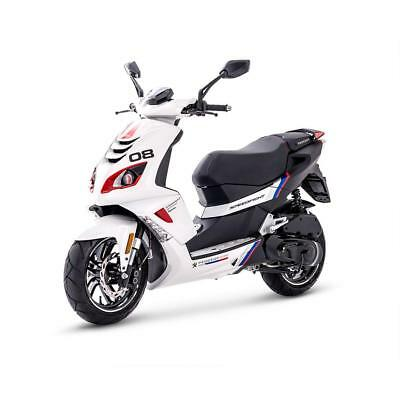 Peugeot Speedfight 4 50Cc Scooter - R-Cup White Sports - Brand New - Zero Miles