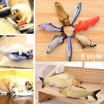 Simulated Fluffy Artificial Fish Cat Toy Pillow for Pets Cats Kitties Kitten