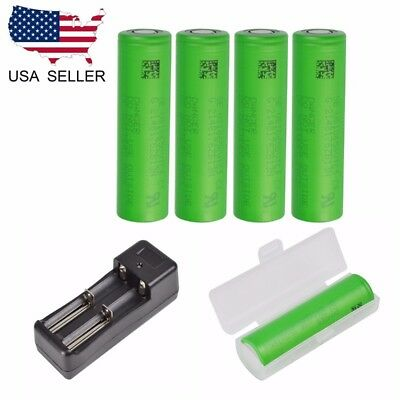 US Samsung INR18650-25R 2500mAh 20A Battery for SMOKTech Vape Mods and Charger