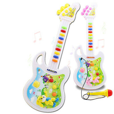 US Kids Baby Mini Guitar Toy Musical Instrument Funny Music Educational Toy Gift