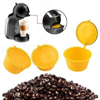 3 Pcs/Set Reusable Capsule Cup Coffee Filter Baskets Kitchen Cups Tool
