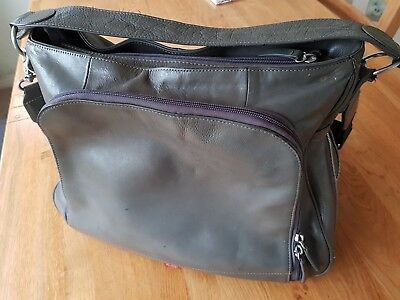 Pacapod SYDNEY Grey Leather Baby Changing Bag