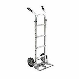 Aluminum Hand Truck Double Handle, Mold-On Rubber Wheels, Lot of 1