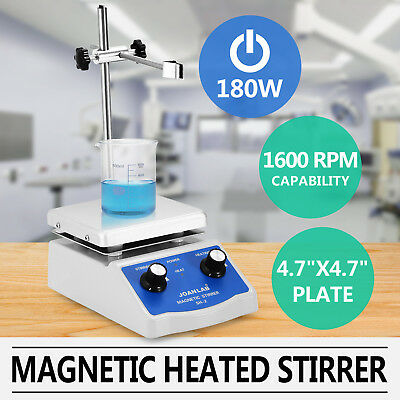 SH-2 MAGNETIC STIRRER HOT PLATE DUAL CONTROL PLATE MIXER 180W COMBO 100-1600 Rpm