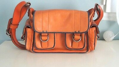 ce5277294eac1f MARC JACOBS - SAC bandoulière - CUIR ORANGE - AUTHENTIQUE - EUR 115 ...