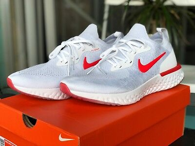 Nike Epic React Flyknit White and Red - Men's 10.5 - New