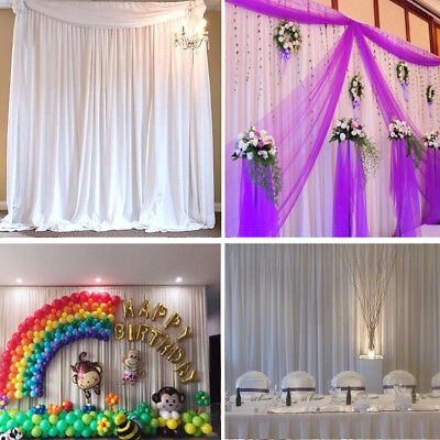 Backdrop Curtains Without Swag Ice Silk Wedding Birthday Party Background Decor