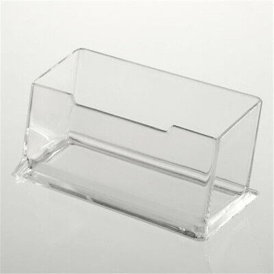 Clear Desktop Business Card Holder Display Stand Acrylic Plastic Desk Shelf RS