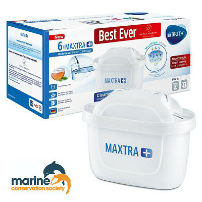 Brita Maxtra + Plus Filter Cartridge 6 Pack 10% Donation To Marine Conservation