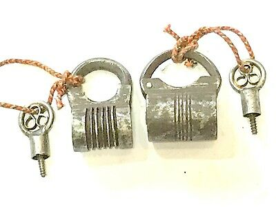 lot of two antique locks with key works well 19th c