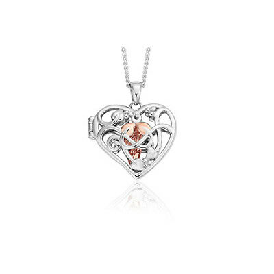 BRAND NEW Welsh Official Clogau Silver & Rose Gold Fairy Locket £90 off!