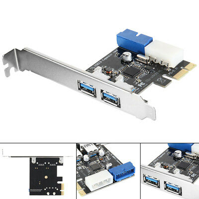 2 Ports 5Gbps PCI-E to USB 3.0 Expansion Card Adapter for Win XP / 7/8/10 AC328