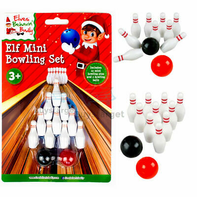 🎳Naughty Elf Mini Bowling Set Elves Behavin' Badly On The Shelf Accessory Prop