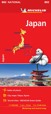 Japan National Map 802 by Michelin (2018 Folded Map)