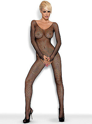 OBSESSIVE N109 Luxury Super Soft Long Sleeved Fishnet Bodystocking
