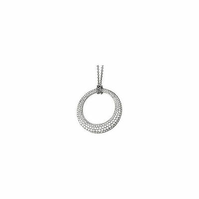 """Diamond Circle 18"""" Necklace In 14K White Gold (3.00 ct. tw"""