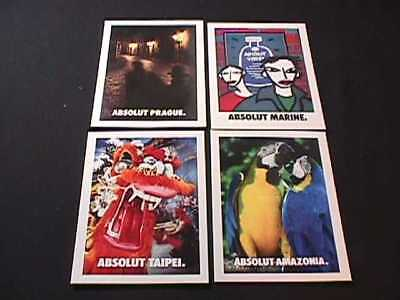 Absolut Vodka Taipei, Prague, Amazonia & Marine Advertising Postcards