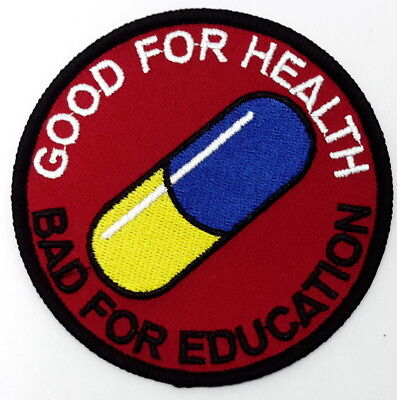 "Akira Capsule Logo ""Good For Health - Bad For Education"" 3.5"" Patch (AKPA-02)"
