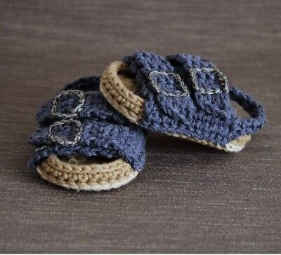 Crochet Baby Birkenstock Shoes Baby Boy Girl Newborn Crib Shoes