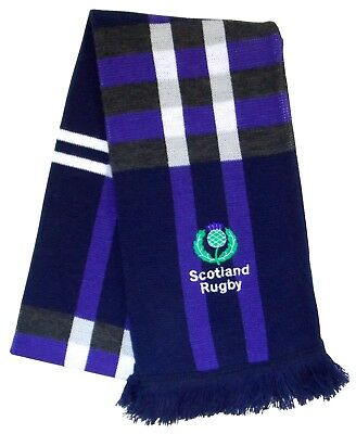 Scotland Rugby Plaid Embroidered Scarf