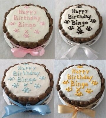 Personalised Homemade Celebration 5 1 2 Birthday Cake Treats For Puppy Dog