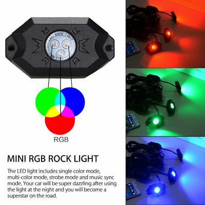 8pc led all color changing boat interior marine deck lights neon bluetooth 40 led boat interior marine deck lights rgb changing accent pod kit aloadofball Image collections