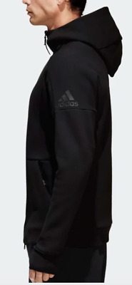 Adidas ZNE Men Track Hoodie Jacket Z.N.E Black Sports Hooded Full Zip Sweatshirt