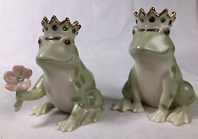 Lenox Frog Prince Salt and Pepper Set - New Without Box - Never Used!!